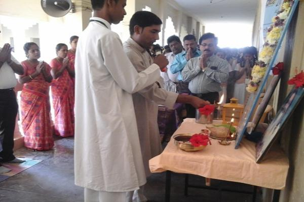 Guru Poornima was celebrated in our own vedic traditional by performing Gurupooja and practising group meditation.